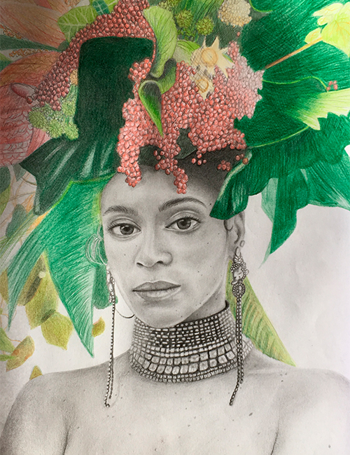 Beyoncé Knowles drawing